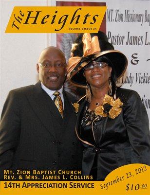 Volume 3 Issue 23 - 14th Appreciation Service Rev. & Mrs. James L. Collins