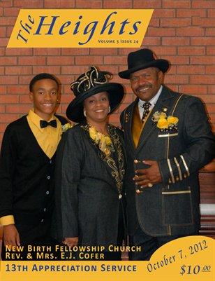 Volume 3 Issue 24 - 13th Appreciation Service Rev. & Mrs. E.J. Cofer