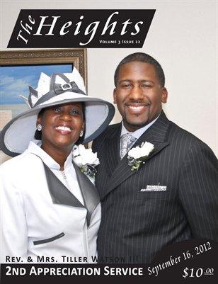 Volume 3 Issue 22 - 2nd Anniversary  Rev. & Mrs. Tiller Watson III