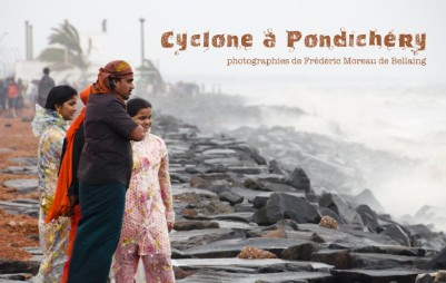 Cyclone à Pondichéry