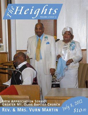 Volume 3 Issue 12 - 14th Appreciation Service Rev. & Mrs. Vurn Martin