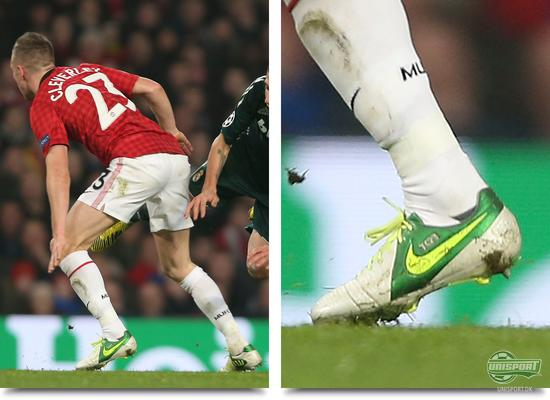 champions league, cl, boot spot, boot spots, boot spotting, unisport, unisportstore, top 5, fodboldstøvler, football boots, boots, støvler, manchester united, cleverley, tom cleverley, nike ctr360 maestri iii, ctr360, nike