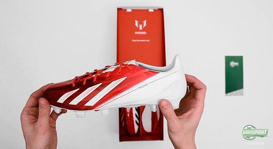 adidas, f50, adizero, messi, adidas f50 adizero, lionel messi, adidas f50 adizero messi, unboxing, football boots, boots, fodboldstøvler, unisport, unisportstore, gearcare