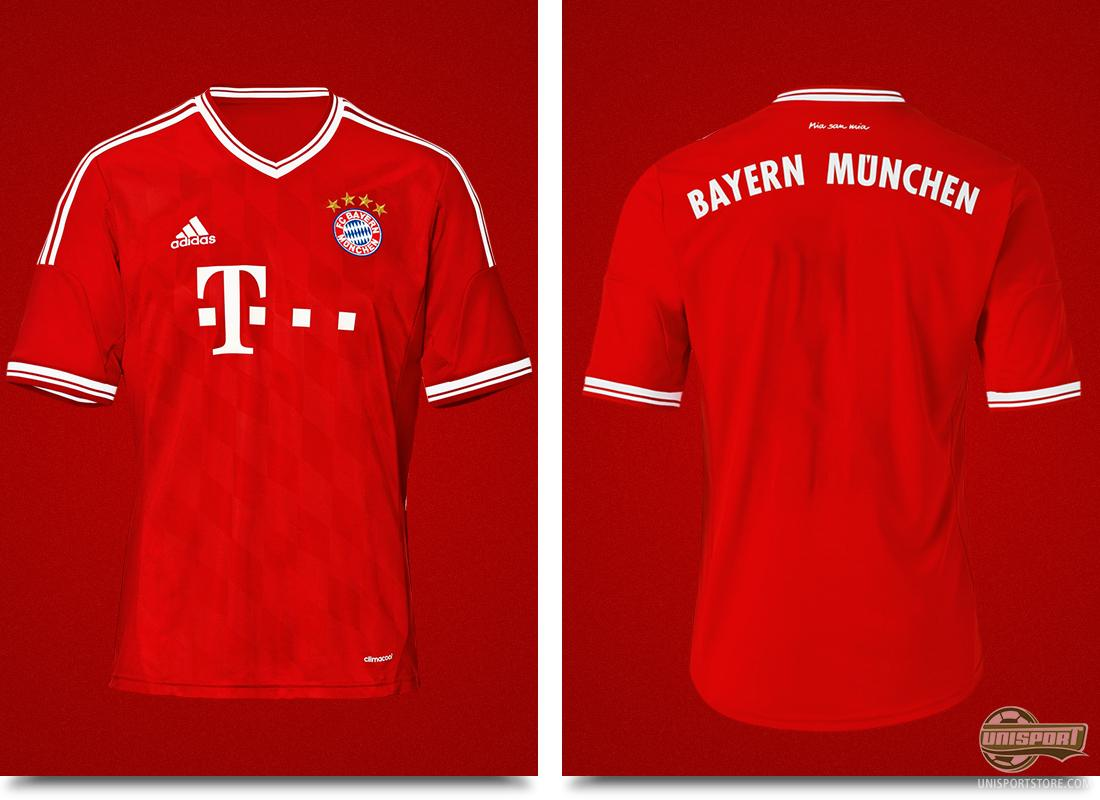 bayern m nchen reveal their new home shirt. Black Bedroom Furniture Sets. Home Design Ideas