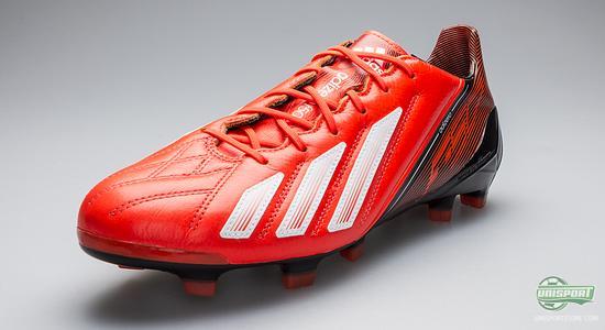 Adidas f50 adizero cuoio nero / rosso / bianco 203 a infrarossi