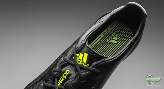 adidas, adizero, whiteout, blackout, sort, hvit, skinn, f50, klassiker, fotballsko, fotball, unisport, unisportstore