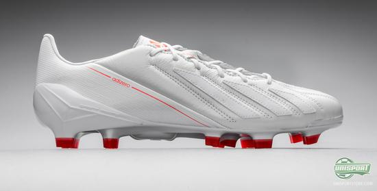 all white adizero football cleats