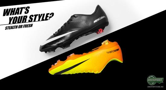nike, adidas, puma, hypervenom, adizero, mercurial, style, whats your style, farger, stealth, fotballsko, fotball, unisport, unisportstore