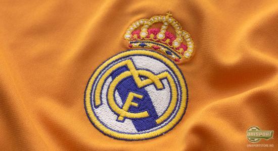 adidas, real, madrid, real madrid, 3. drakt, 3 drakt, tredje drakt, oransje, kongeklubb, unisport, unisportstore