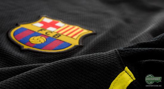 nike, barcelona, 3 drakt, 3.drakt, tredjedrakt, svart, sort, unisport, unisportsore