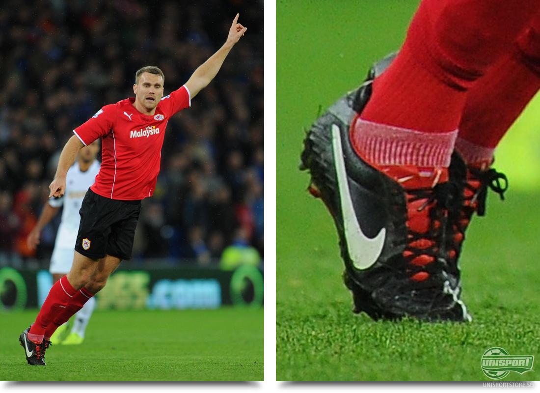 Ben Turner (Cardiff City) Nike Tiempo Legend IV Svart Vit Röd Vi börjar med  ett derby i Wales där Cardiff tog emot Swansea. Cardiff lyckades vinna den  täta ... 7e8fdf3c1ae55