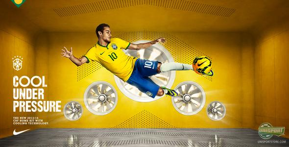 Brasil present passionate new home shirt