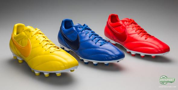 Nike Premier Limited Edition football boots in blue, yellow and red - a celebration of the winners