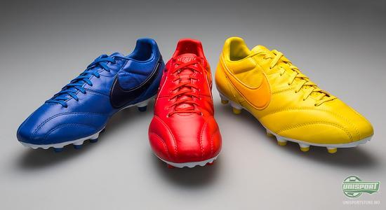 nike, farger, premier, rød, blå, gul, skinn, fotballsko, brasil, frankrike, england, ny, nye fotballsko, unisport, unisportstore