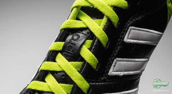adidas, adipure, 11pro, sort, fotbalslko, ny, grønn, hvit, skinn, unisport, unisportstore