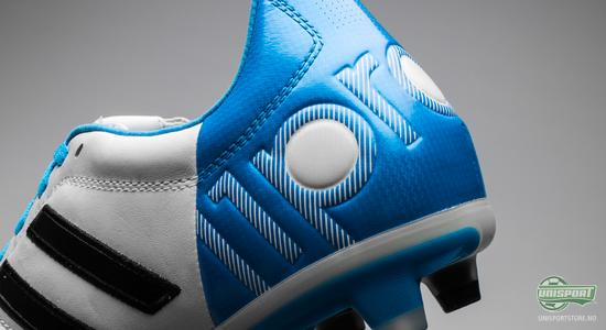 adidas, adipure, 11pro, ny, hvit, blå fotballsko, fotball, unisport, unisportstore