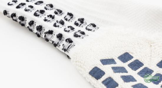 trusox, blå, hvit, sort, sklisikker, fotballsokker, fotballstrømper, unisport, unisportstore