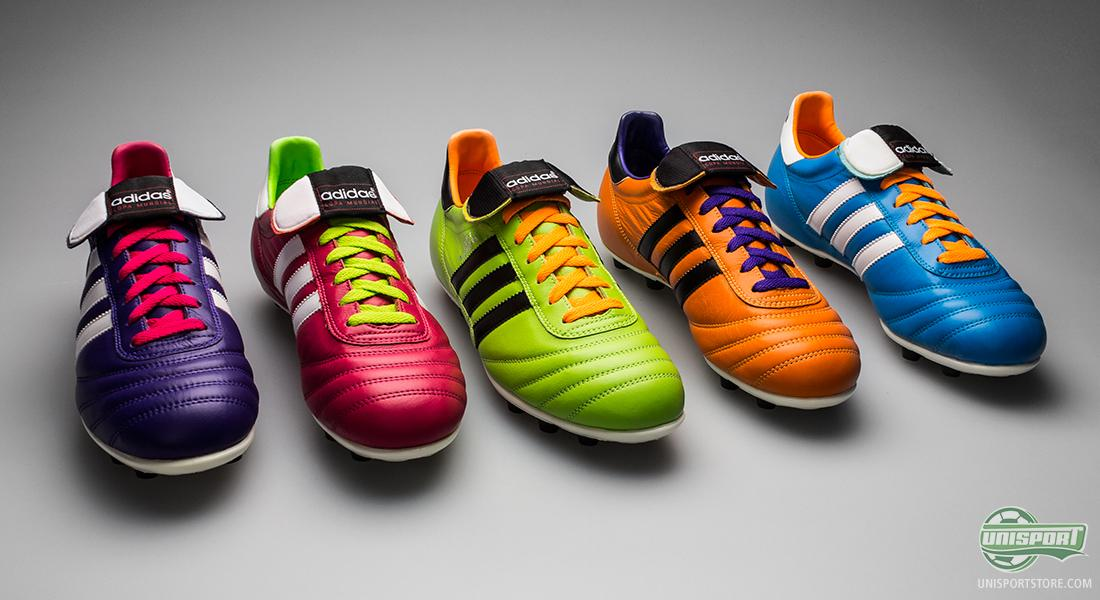 Adidas Copa Mundial in black, white and lots of Samba-colours