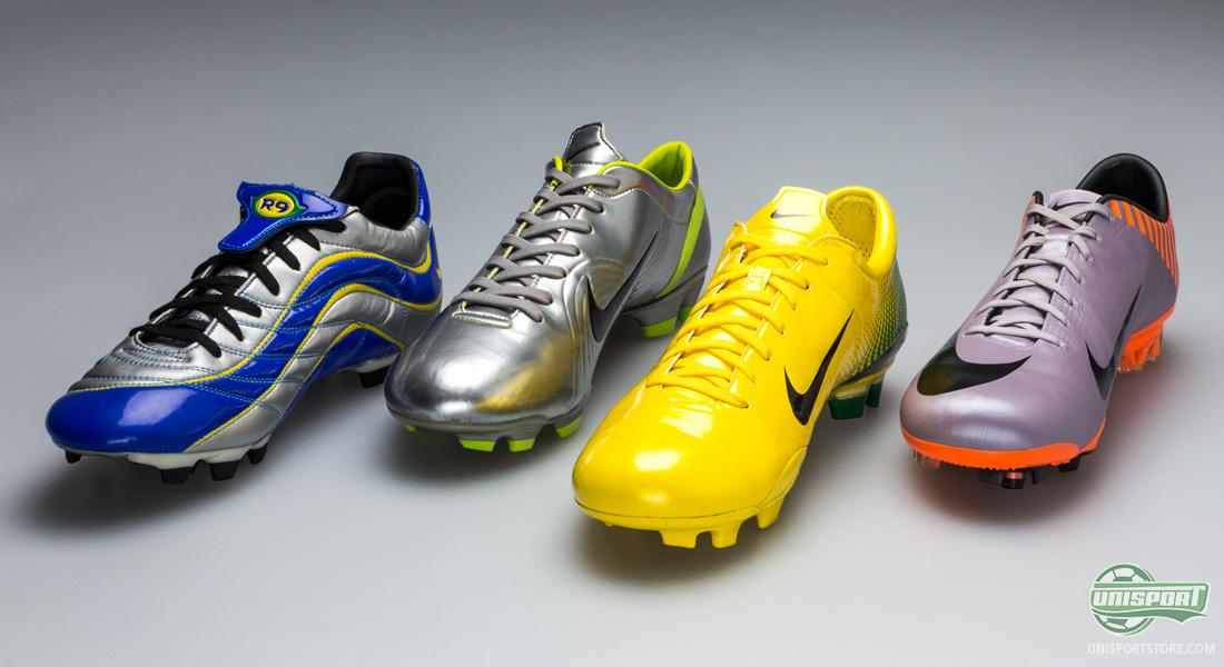 nike mercurial world cup football boots from 1998 to 2010