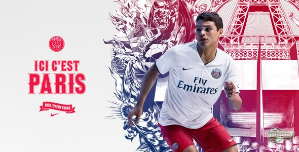Nike present a stylish away-shirt for the ambitious PSG