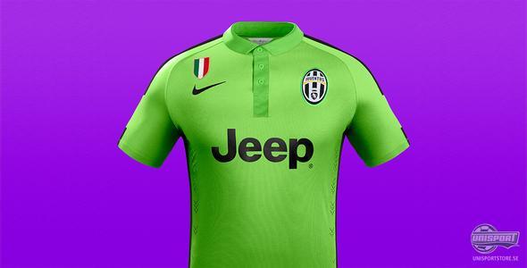 Juventus och Nike presenterar en elektriskt grön tredjetröja