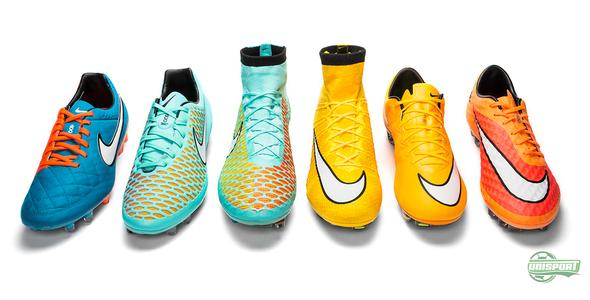 Nike with updates for all their boots: colours are back!