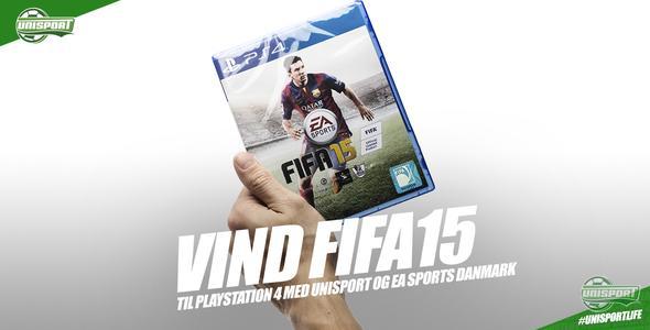 Konkurrence: Vind FIFA15 til PS4 med Unisport og EA Sports