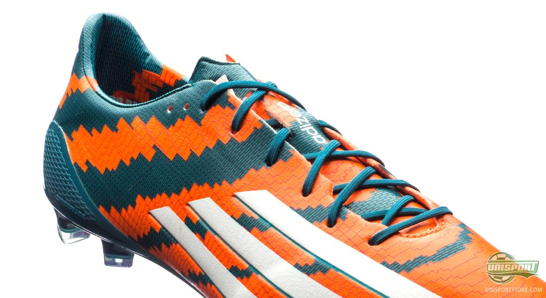 The choice of colour is like the rest of the boot far from coincidental.  Orange represents Messi's first club, while green is the colour of their  largest ...