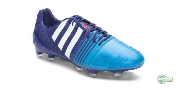 The Amazon Purple/White/Solar Blue Nitrocharge go hard on the adidas haters