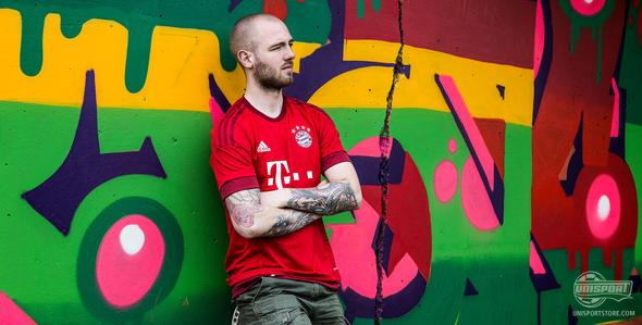 The new Bayern Munich home-shirt dons the famous red colour once more