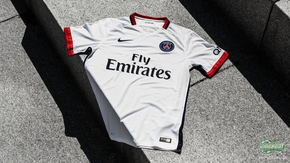 Paris Saint Germain unveil their new away-shirt for the 2015/16 season