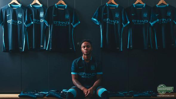 """""""Blue moon"""" inspires the new Manchester City 2015/16 away-shirt"""
