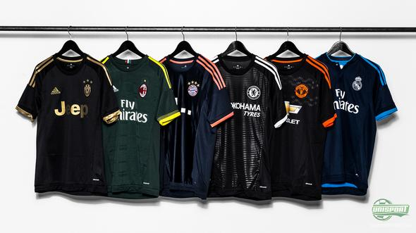 adidas present five new third-shirts for five of their biggest clubs!