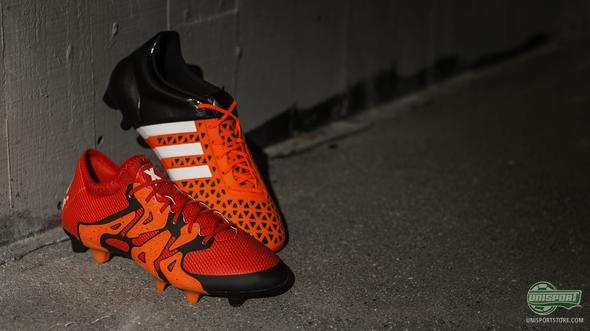 Adidas bring the Solar Orange colourway to their Ace15 and X15
