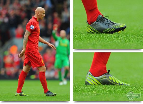 jonjo shelvey, shelvey, warrior sports, liverpool, adidas, predator, lz