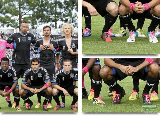 san jose earthquakes, breast cancer awareness, pink laces, pink tribute, project pink