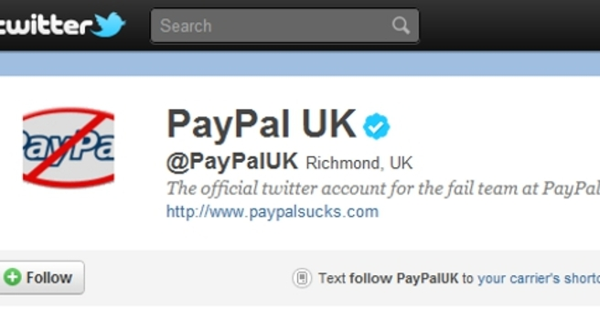 Paypal UK Twitter account hacked - storyful