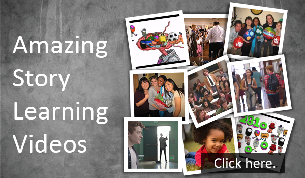 Amazing story learning videos homepage