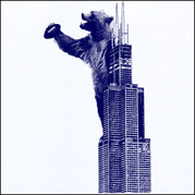 Football Bear Climbing the Sears Tower in Chicago Shirt