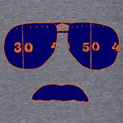Ditka Glasses And Stache Shirt