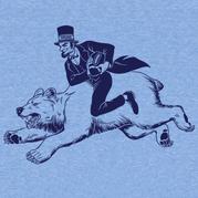 Abe Lincoln Riding a Bear Shirt