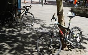 Sydney City Cycle ways:  cyclists illegally riding on footpaths