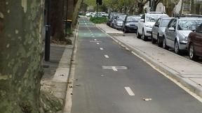 Bourke St bike path empty