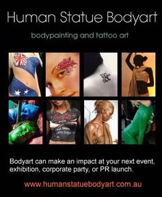 Human Statue Bodyart helping brands, companies and individuals to stand out from pack
