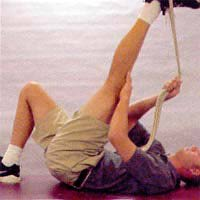 Straight Leg Hamstring Stretch: Active