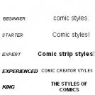 Comic strip styles