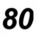 (81 or so? 80!)