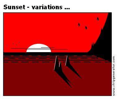 Sunset - variations ...