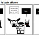 La fille mechante et le lapin affame
