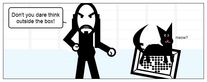 Cartoon: Thinking outside the box